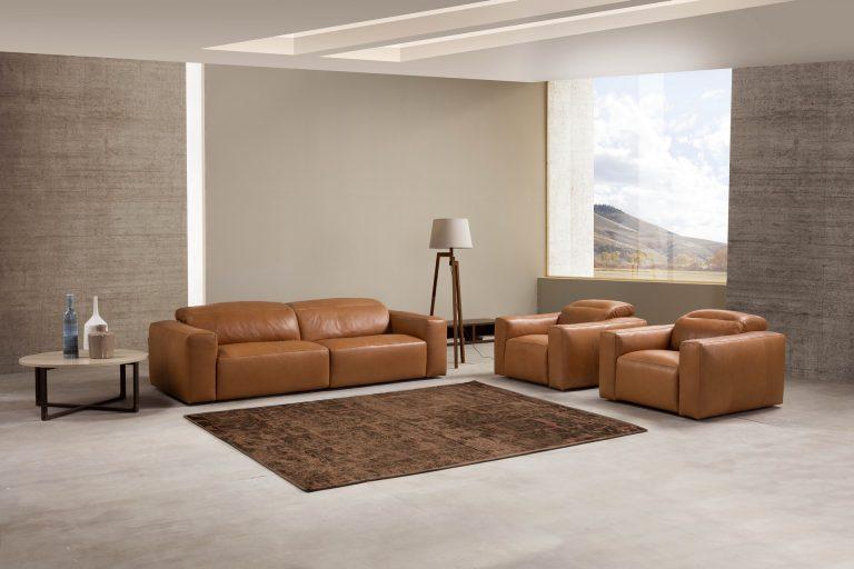 ספה עם ריקליינרים דגם Beverly