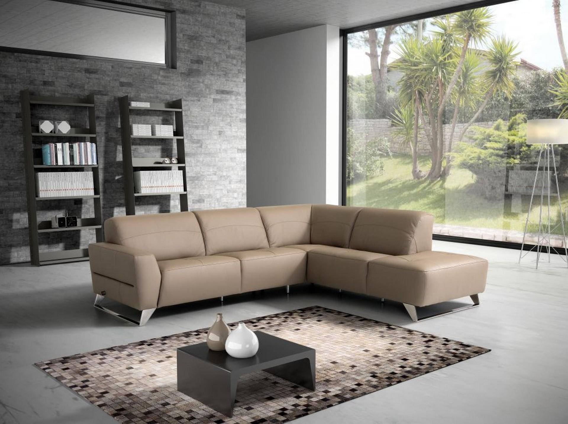 ספה פינתית מעור דגם SCALEA